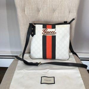 Authentic Gucci white monogram crossbody bag